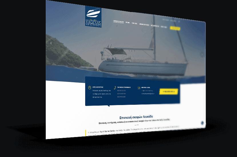 Κατασκευή ιστοσελίδας για εταιρεία επισκευής σκαφών στο Νυδρί Λευκάδας