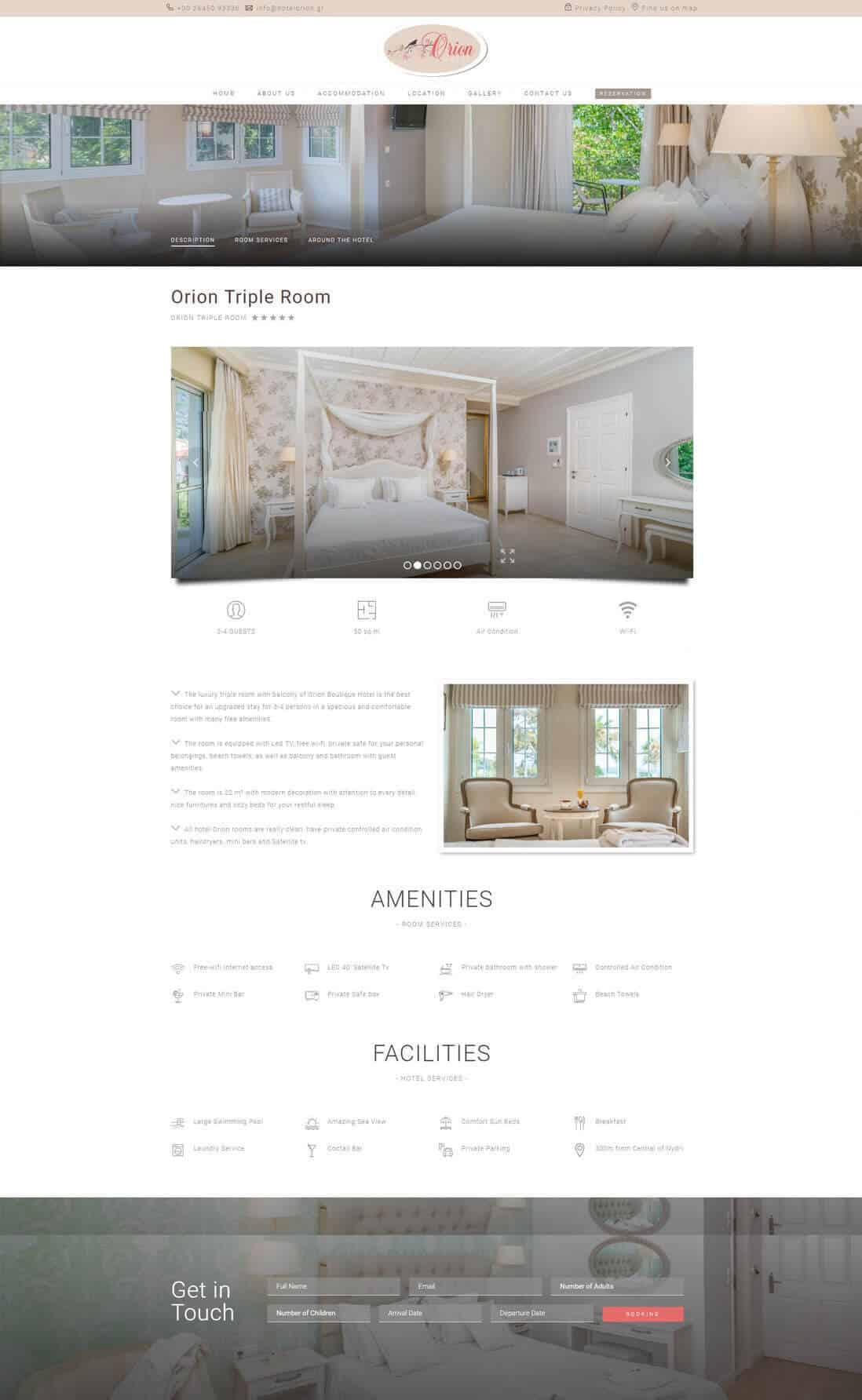 κατασκευή ιστοσελίδας για boutique hotel στο Νυδρί Λευκάδας