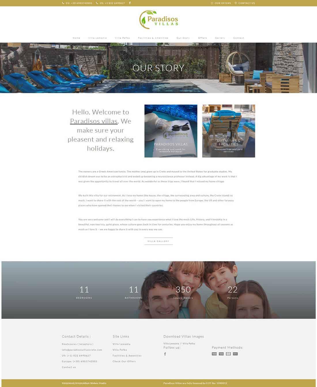 κατασκευή ιστοσελίδας για Ξενοδοχείο Στη Κρήτη