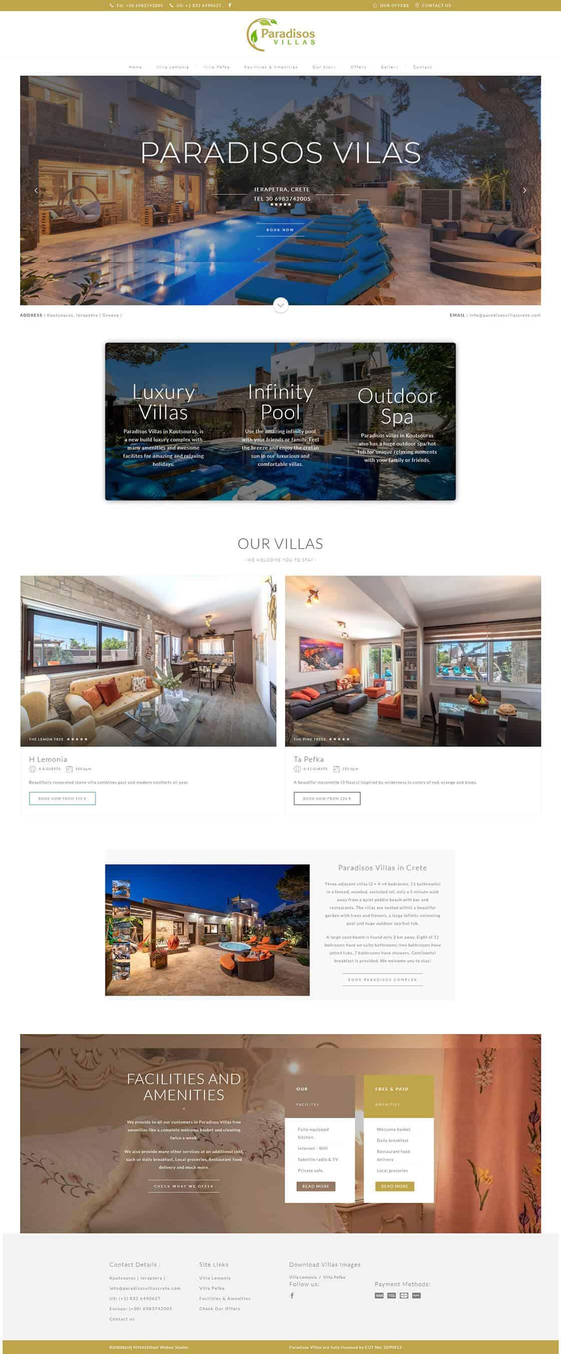 κατασκευή ιστοσελίδας για Ξενοδοχείο