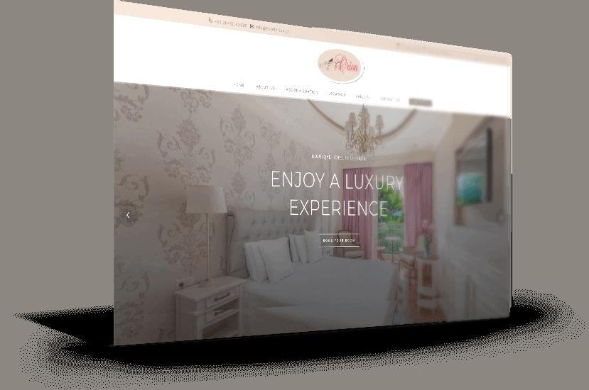 κατασκευή ιστοσελίδας για ξενοδοχείο στο Νυδρί Λευκάδας