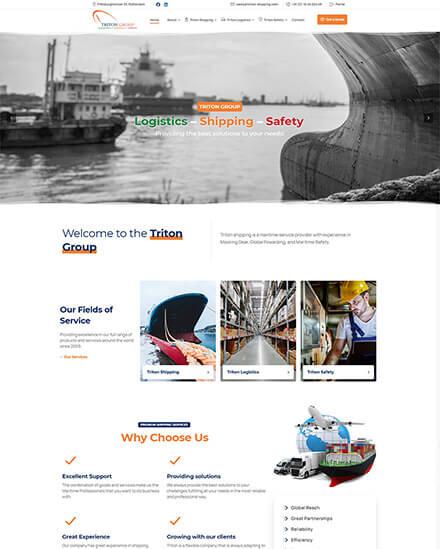 Κατασκευή ιστοσελίδας για ναυτιλιακή εταιρεία